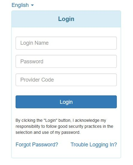 Therap login box